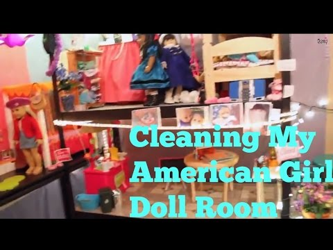 Cleaning my American Girl Doll Room | SummerStudiosAG