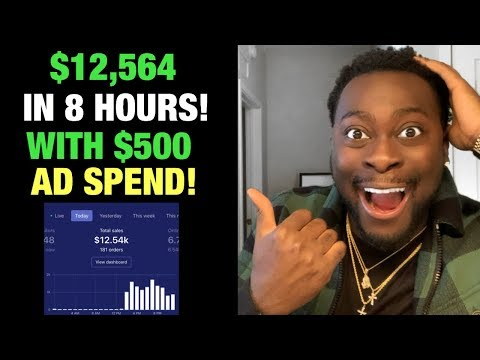 $12,000 in 8 HOURS with $500 AD SPEND | How to do this on your Shopify Dropshipping store in 2020! thumbnail