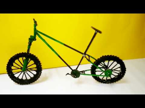 DIY Miniature Bicycle From Newspaper  | Craft Nifty Creations