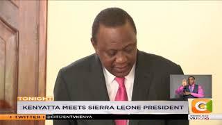 Kenyatta meets Sierra Leone, Mauritius president to sell destination Kenya