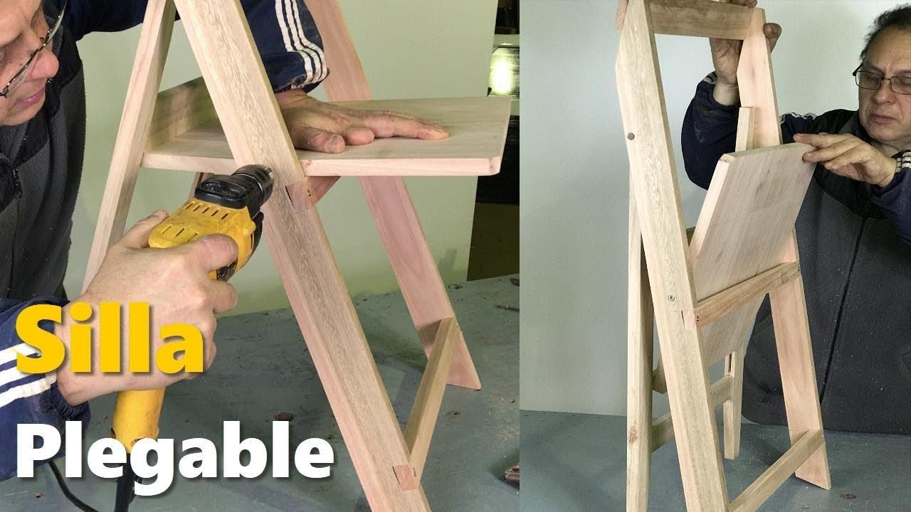 Silla plegable de madera f cil paso a paso tutorial for Silla escalera de madera plegable