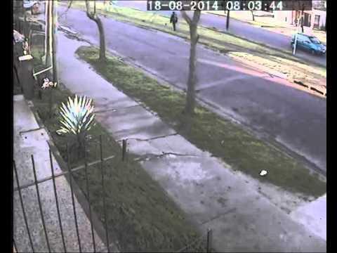 Accidente esta mañana en San Carlos: miren la camioneta