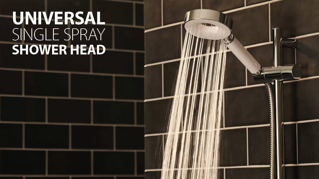 Triton Finish 5 Mode Shower Head.Triton Universal Fitting Shower Heads Iris Hand Held Single Spray Pattern