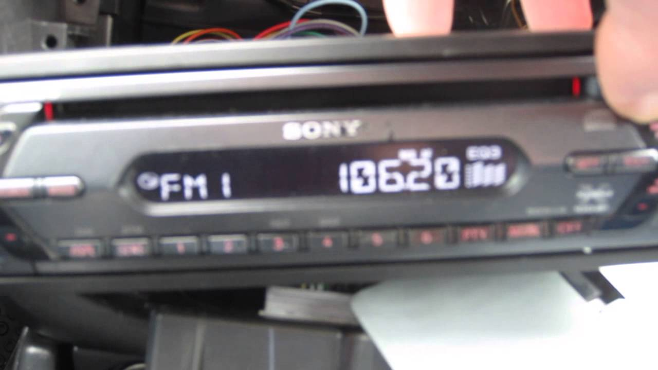 Sony Cdx S Head Unit In Car Test