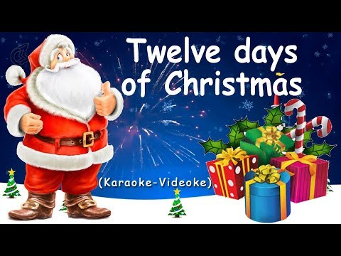 Twelve Days Of Christmas - Christmas Carol (♪Karaoke-Videoke)