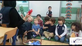 Preschool class in their Arabic lesson
