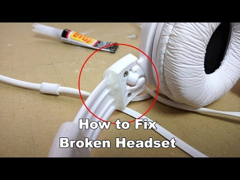 How to Fix Broken Headset with Superglue and Baking Soda