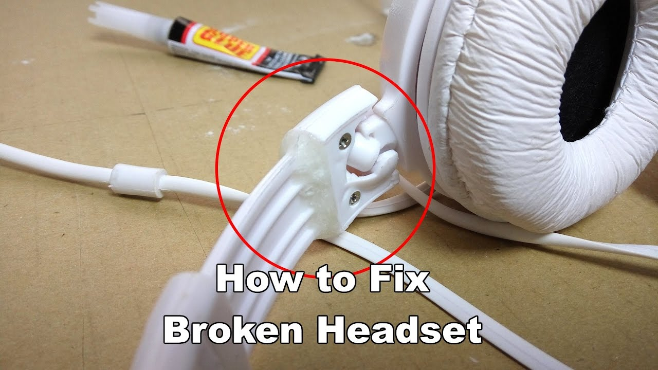 Fix Broken Headphone Band - Superglue Trick: 3 Steps (with