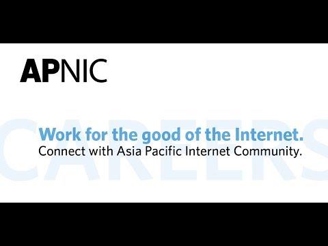 Working at APNIC