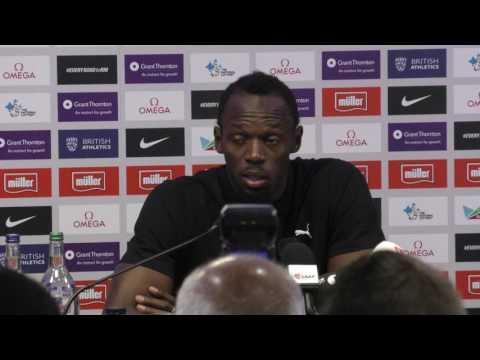 London IAAF Diamond League press conference: Usain Bolt