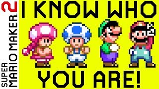 This level tells you who you are playing as! (Super Mario Maker 2)