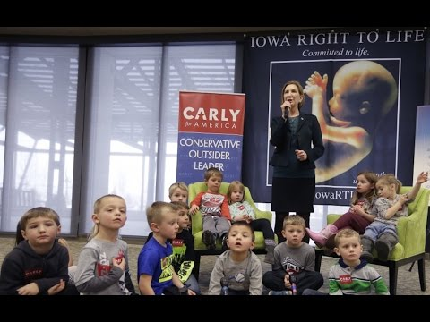 Carly Fiorina Nabs Random Kids For Anti-Abortion Speech