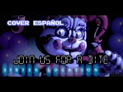 FNAF Sister location Join us for a bite Cover español SFM - Kira0Loka [METAL ver.]