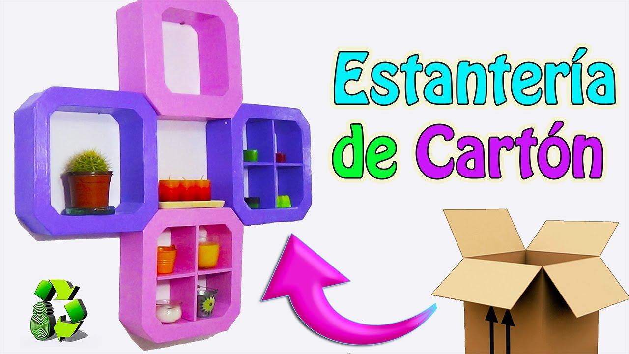 Estantera de cartn Manualidades con cartn Ecobrisa DIY YouTube