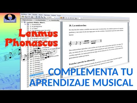Tutorial - Aprende Música con LenMus Phonascus.