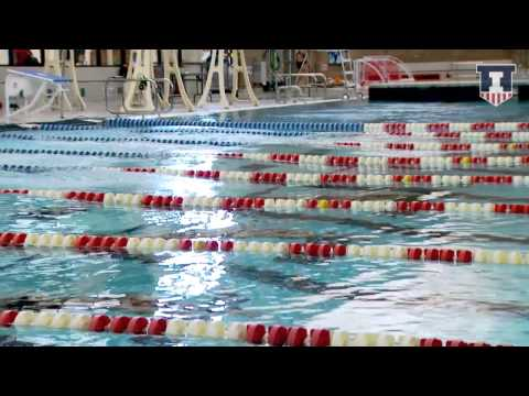 Illinois Swimming and Diving vs Nebraska Highlights 1/24/15