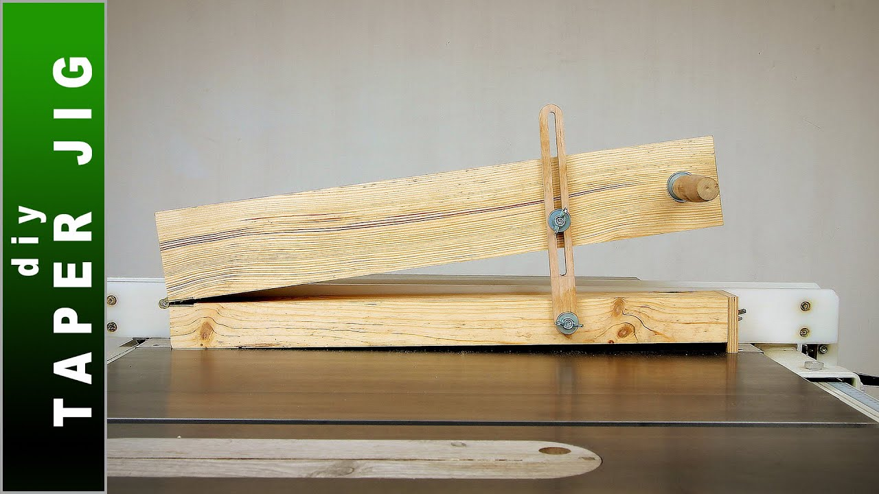 🟢 Taper Jig for Table Saw   DIY Tapering Jig for Long Cuts