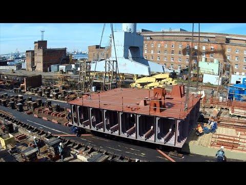 Закладка атомного ледокола «Якутия» на Балтийском заводе