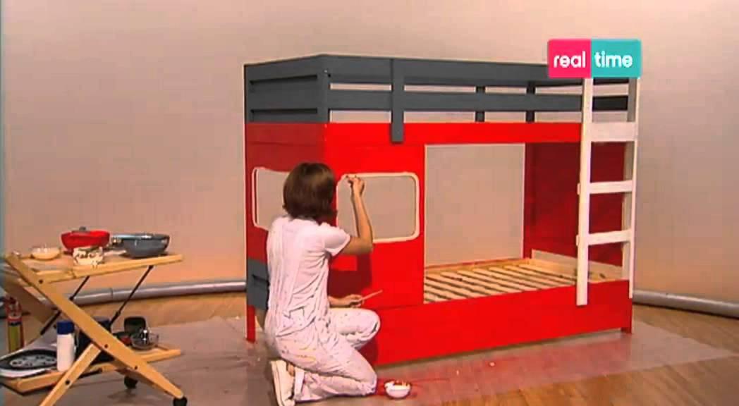 Costruire Un Letto A Castello Fai Da Te : Paint your life letto camion dei pompieri youtube