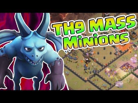 TH9 MASS MINION Attack & Event | Clash Of Clans
