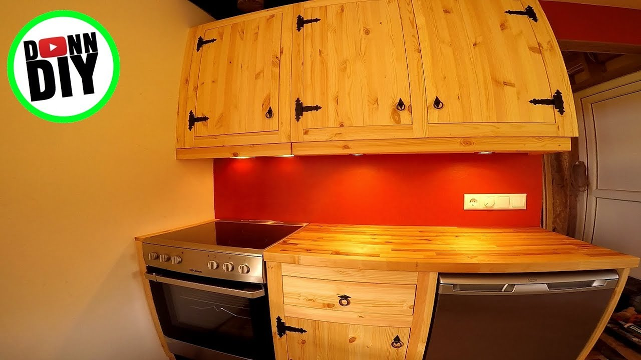 Affordable Homemade Solid Wood Kitchen Cupboards With Blacksmith ...