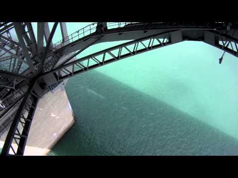 Auckland Bridge Bungy Jump, New Zealand. GoPro.