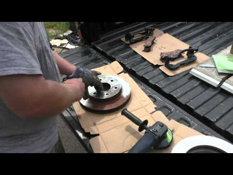 Cleaning Up Rusty Brake Rotors