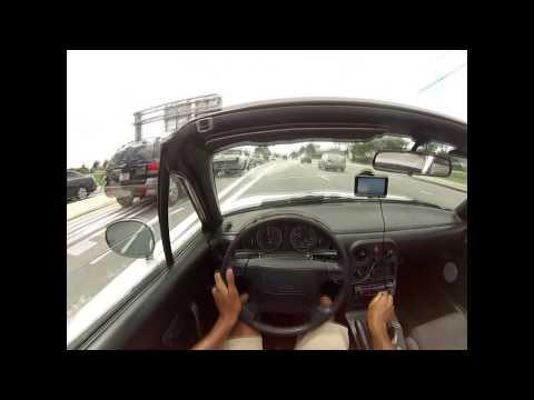 NA Mazda Miata mx5 0-60 mph run POV (14deg cam advancement/headers/straight pipe) + sound check