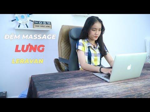 Đệm Massage Lưng Leravan LF-AZ016-MGY - Ghế Massage Cơ Động Có Thể Dùng Bất Cứ Đâu
