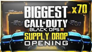 "MOST EPICS EVER! BIGGEST BLACK OPS 3 RARE ""SUPPLY DROP OPENING"" (Black Ops 3 EPIC OPENING)"