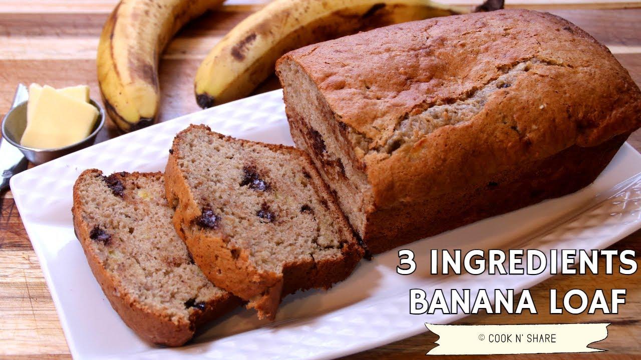 3 Ingredient Banana Cake Mix Loaf