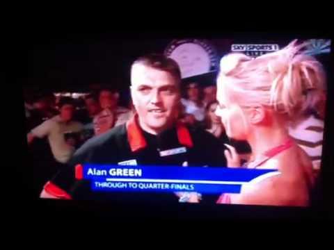 "Alan ""danger scouse"" Green PDC Darts player UK open"