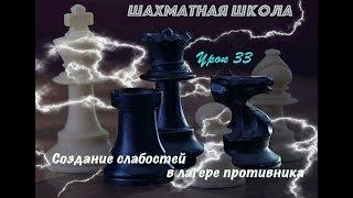 Урок 33. Создание слабостей в лагере противника