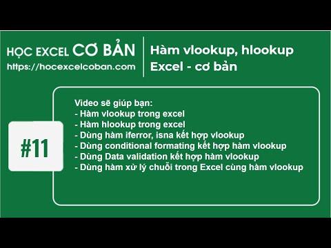 Học Excel cơ bản | #11 Hàm vlookup, hlookup Excel – cơ bản