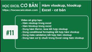Học Excel cơ bản | #11 Hàm vlookup, hlookup Excel - cơ bản