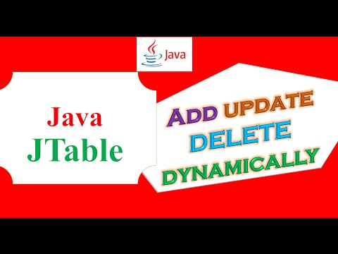Java JTable Ep.16 -  Add/Insert,Update,Delete/Remove Dynamically