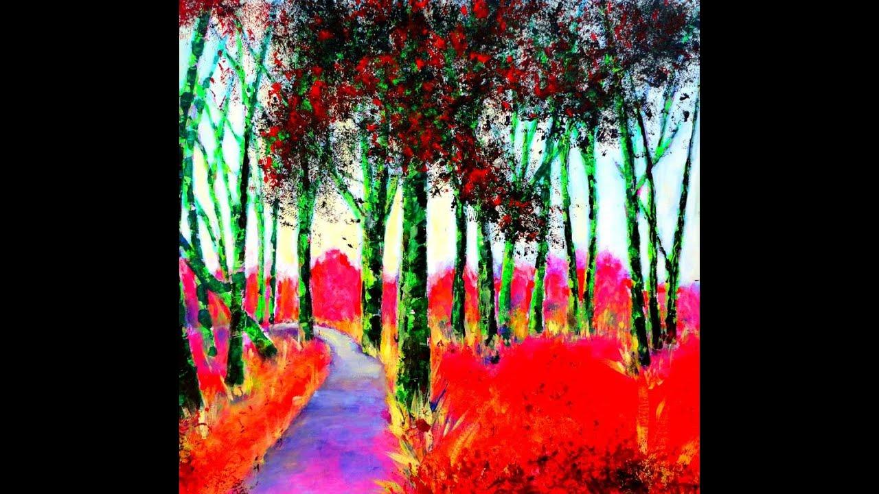 Acrylmalerei - Expressive Farben - Fluo Farben