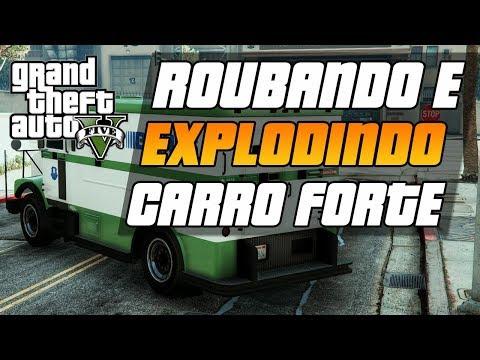 GTA V - DICAS - ROUBANDO E EXPLODINDO CARRO FORTE NO GTA 5