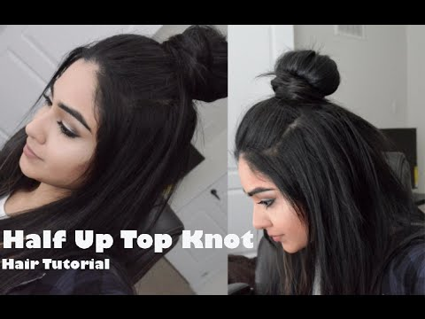 Hair Tutorial | Hipster Bun/ Half Up Top Knot