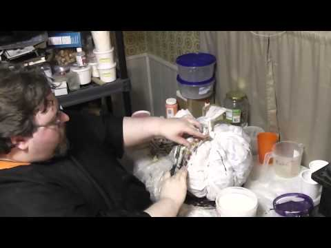 Paper Mache Pumpkins- 3 - Making Paste and Top Section