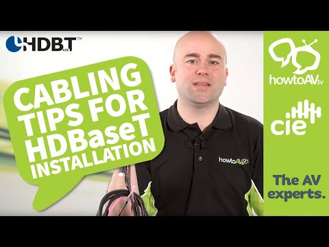 Cabling Tips for HDBaseT installation - what to look out for…