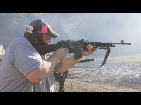 Machine Gunner Aaron Short shows us his guns
