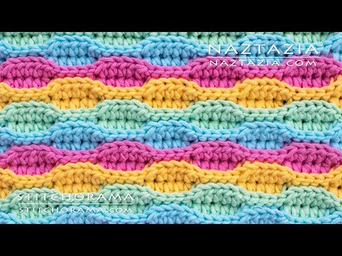 How to Crochet the Wave Stitch - Stitchorama by Naztazia