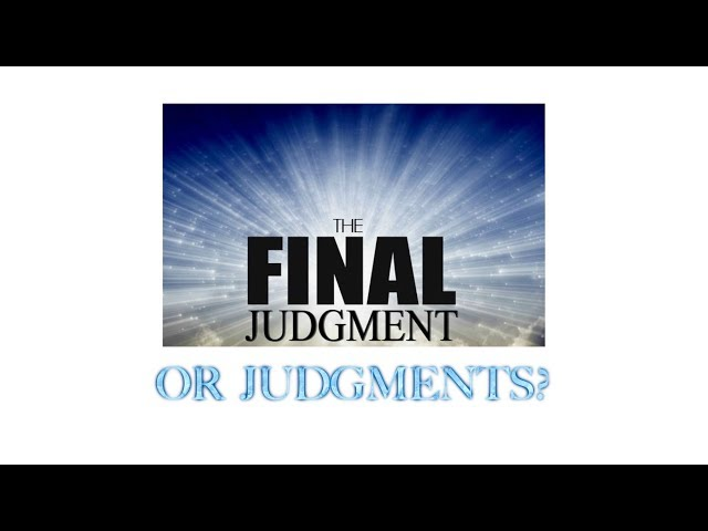 The Final Judgment or Judgments?