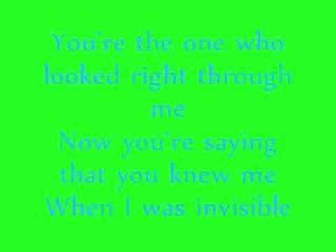 Ashley Simpson - Invisible Lyrics