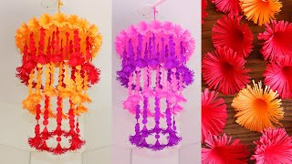 Simple Hanging Paper Flowers - Home Decor - Paper Craft - DIY Wall Decor Ideas