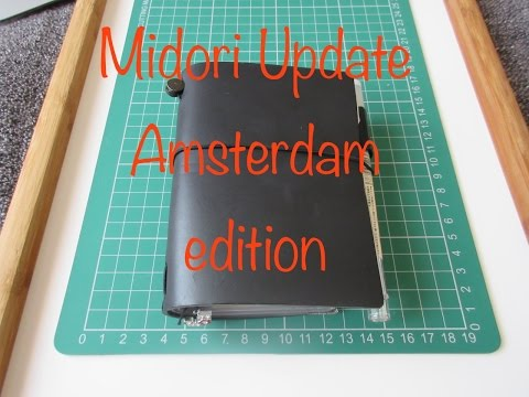 "Midori Traveler""s Notebook Passport Size Update I Amsterdam edition"