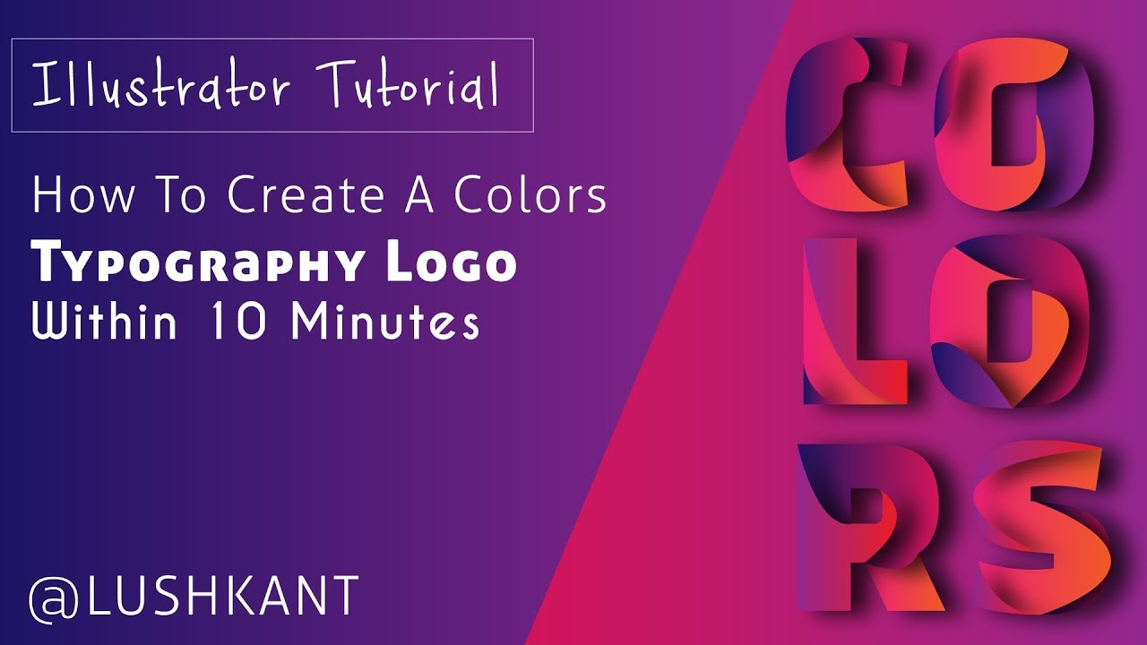 Illustrator Tutorial : How To Create COLORS Typography Logo
