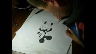 Rysunek Myszka Miki (P.Chojnowski)