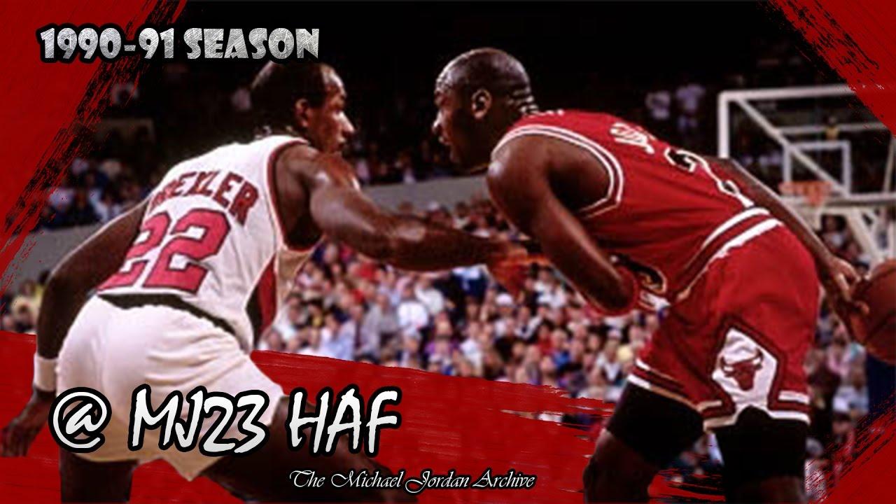 Michael Jordan vs Clyde Drexler Highlights Bulls vs Blazers